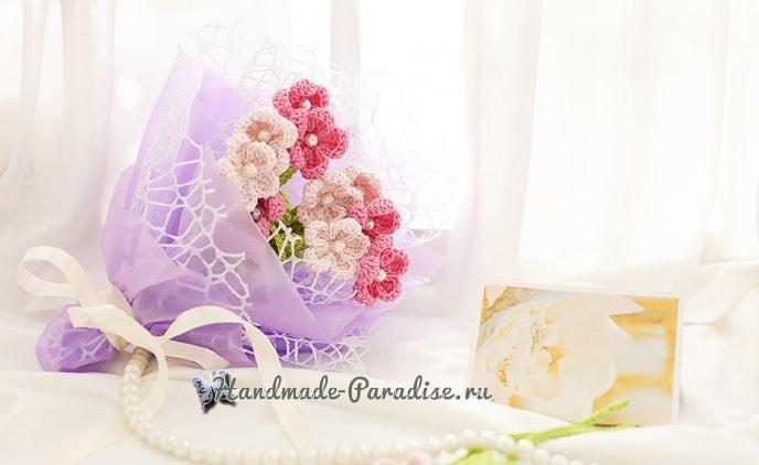 Букетик полевых цветов крючком (1)