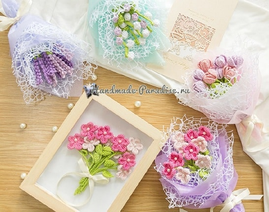Букетик полевых цветов крючком (2)