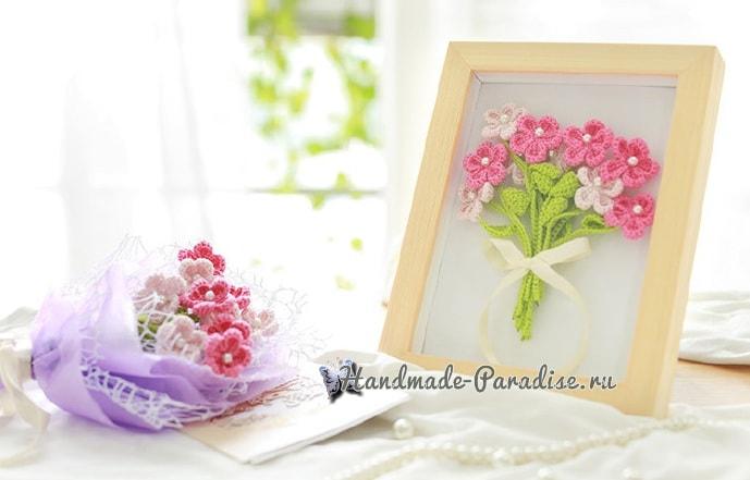 Букетик полевых цветов крючком (5)