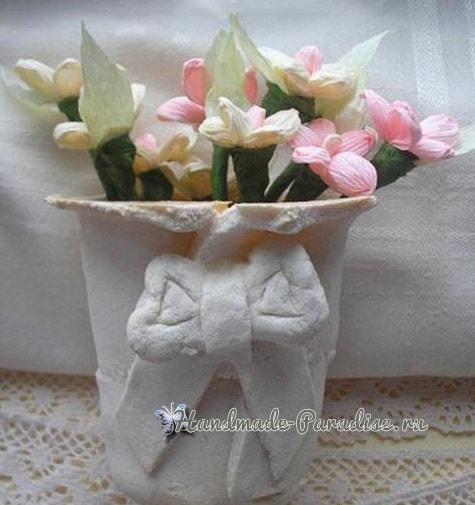 Букетик цветов из гофрированной бумаги (1)