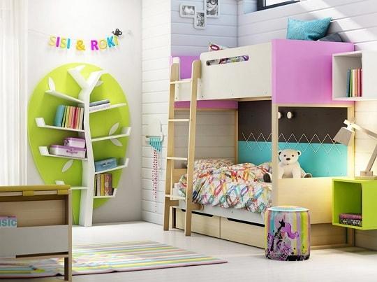 Как обустроить комнату для двух деток разного пола (3)