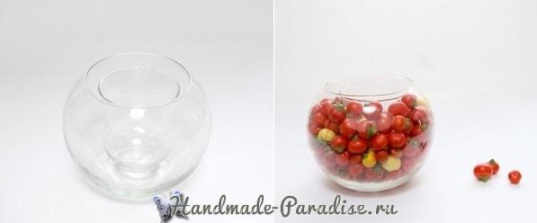 Красивая композиция из цветов и помидоров (2)