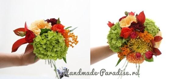 Красивая композиция из цветов и помидоров (3)