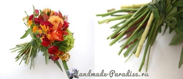 Красивая композиция из цветов и помидоров (4)
