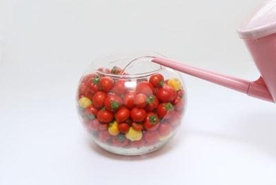 Красивая композиция из цветов и помидоров (5)