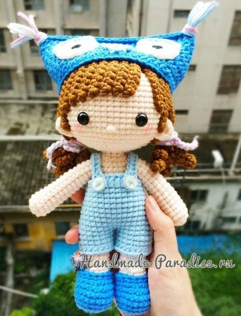 Куколка амигуруми в шапочке совушка (2)