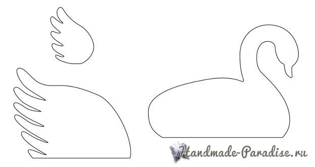 Лебеди из бумаги для свадебного торта (2)