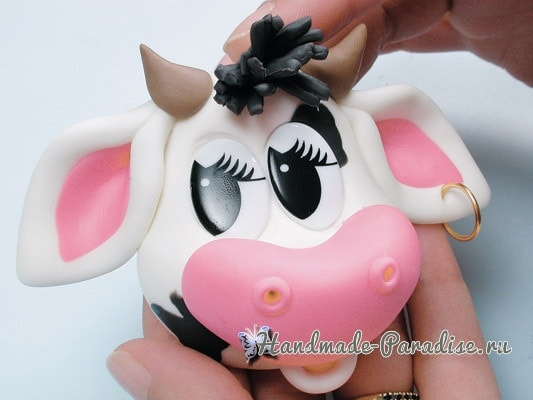 Лепка бычка-поваренка для декорирования баночки (3)