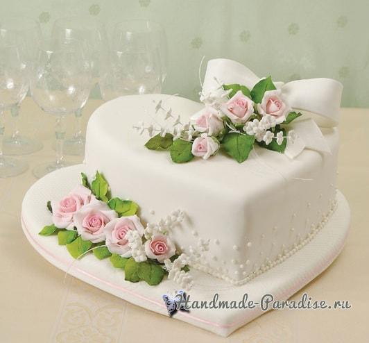 Розы из сахарной мастики для свадебного торта (1)