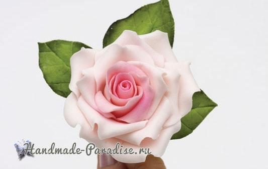 Розы из сахарной мастики для свадебного торта (2)