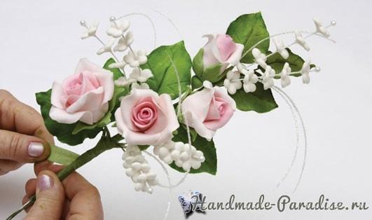 Розы из сахарной мастики для свадебного торта (3)