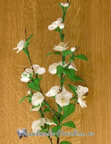 Цветущая вишня из гофрированной бумаги (1)