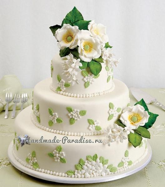 Цветы шиповника для украшения торта (1)