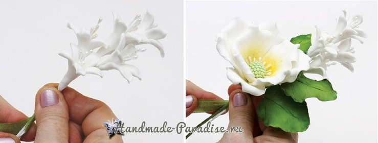 Цветы шиповника для украшения торта (12)
