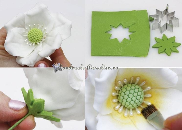 Цветы шиповника для украшения торта (6)