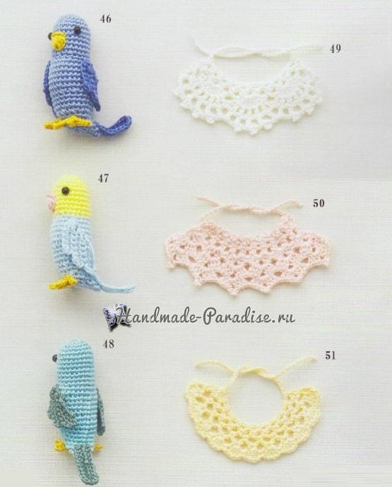 Уточки и попугаи амигуруми. Схемы вязания (4)