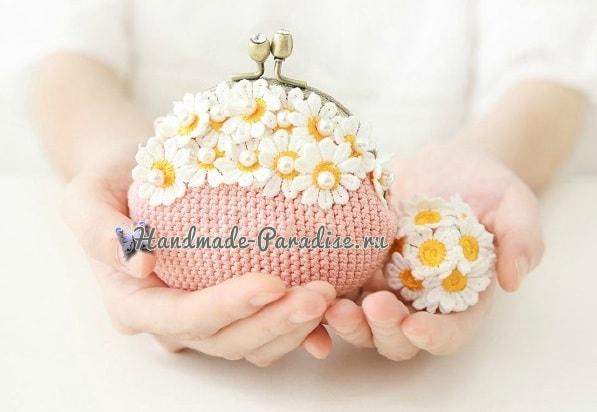 Вязание крючком сумочки с фермуаром (3)