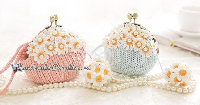 Вязание крючком сумочки с фермуаром (4)