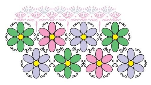 Коврик из цветочных мотивов (3)
