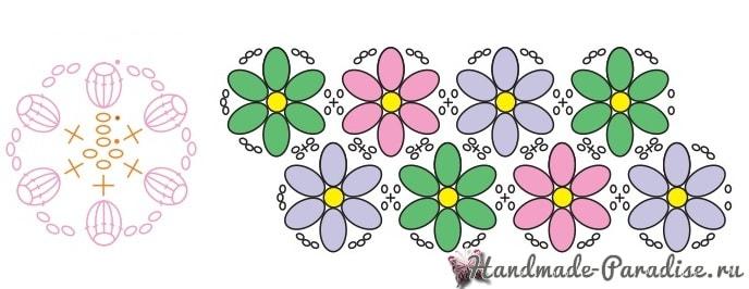 Коврик из цветочных мотивов (4)