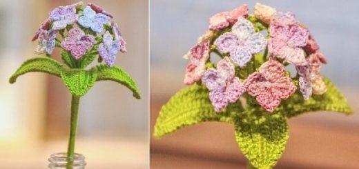 Цветы гортензии крючком. Схема (1)