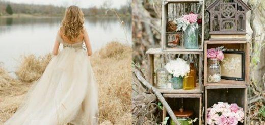 Деревенская свадьба - уютный стиль рустик
