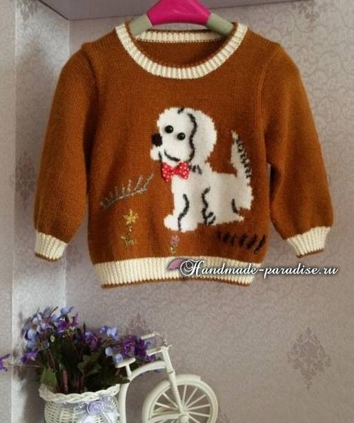 Вязание собачкам свитера на спицах 120