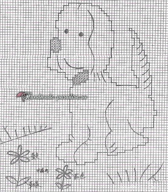 Детский свитер спицами с собачкой. Схема (3)