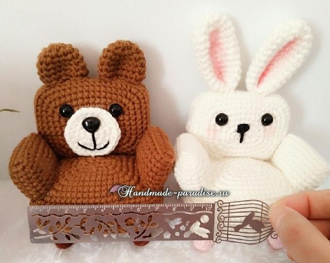 Кресла «Кролик и Медвежонок» для кукол амигуруми (1)