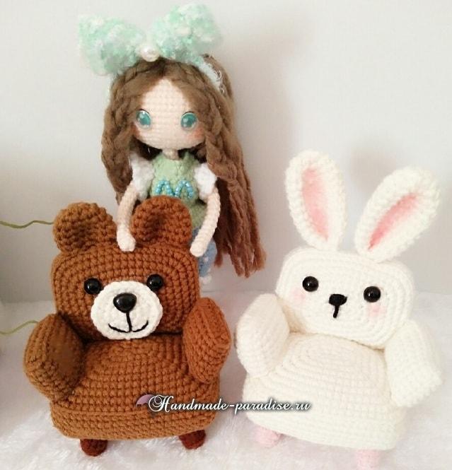 Кресла «Кролик и Медвежонок» для кукол амигуруми (2)