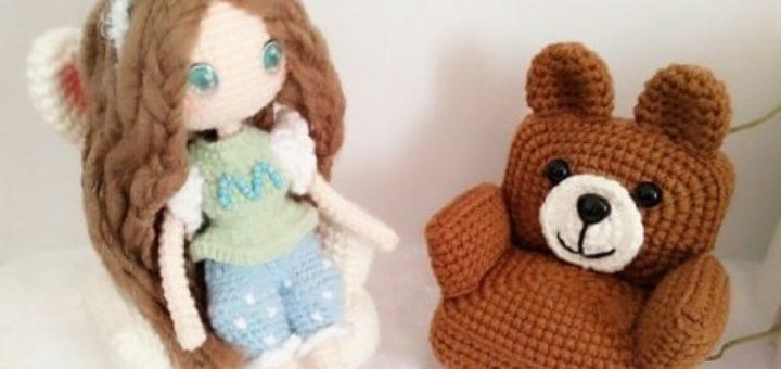 Кресла «Кролик и Медвежонок» для кукол амигуруми (3)