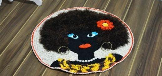Круглый коврик «Африканка» крючком