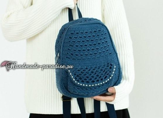 Крючком. Сумка-рюкзак для студентки (1)