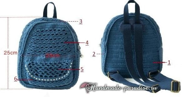 Крючком. Сумка-рюкзак для студентки (2)