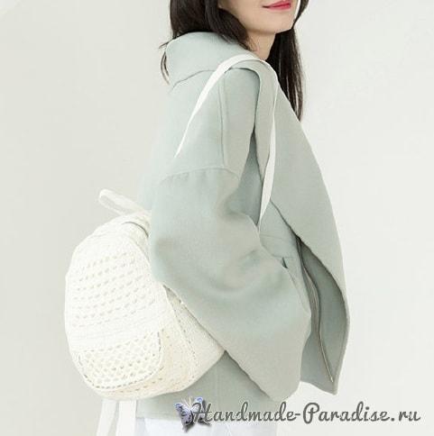 Крючком. Сумка-рюкзак для студентки (5)