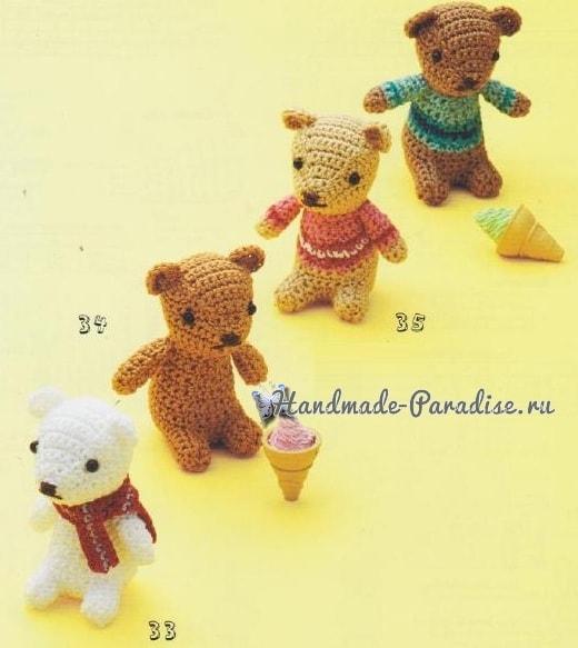 Медвежата амигуруми. Схемы вязания (1)