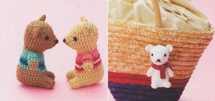 Медвежата амигуруми. Схемы вязания (2)