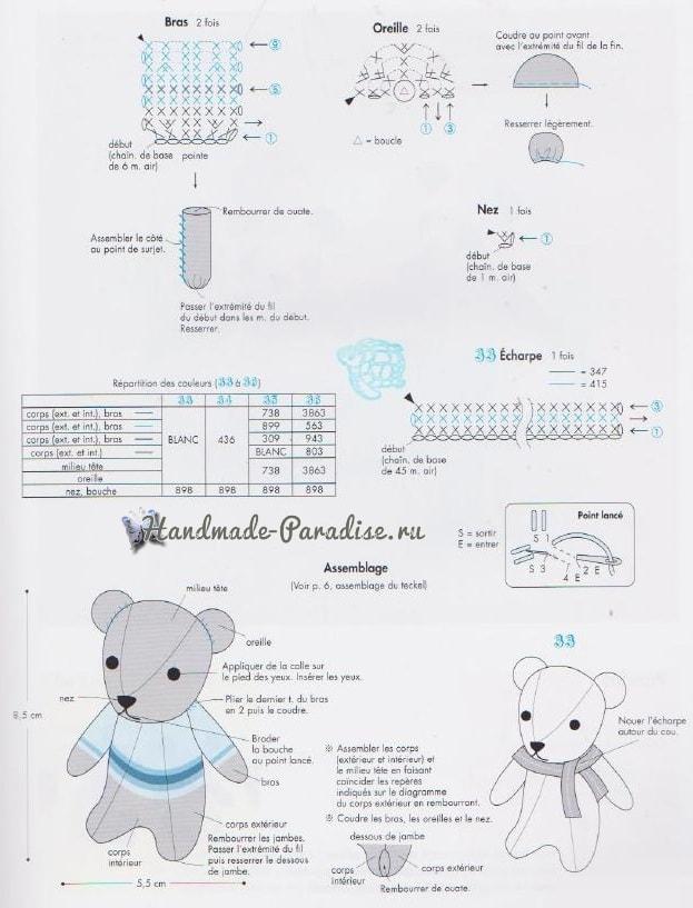 Медвежата амигуруми. Схемы вязания (4)
