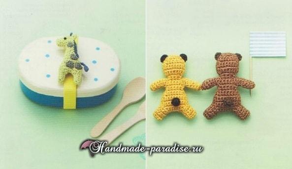 Мишка, жираф, белка и слоник амигуруми (1)