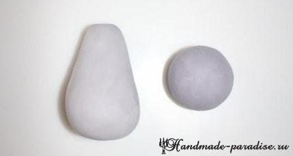 Мышка из мастики для детского торта (1)