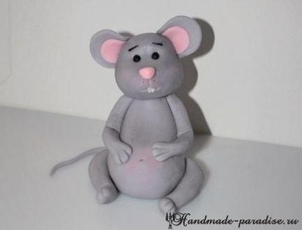 Мышка из мастики для детского торта (10)