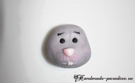 Мышка из мастики для детского торта (3)