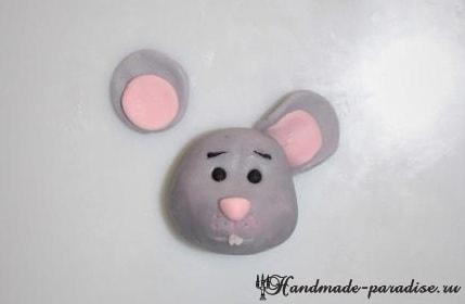 Мышка из мастики для детского торта (5)