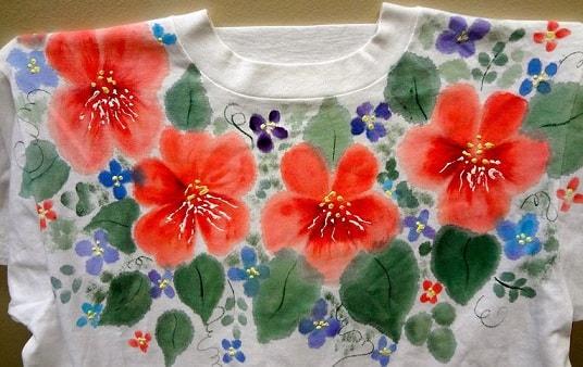 Роспись по ткани акриловыми красками (1)