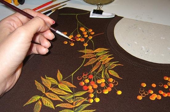Роспись по ткани акриловыми красками (3)