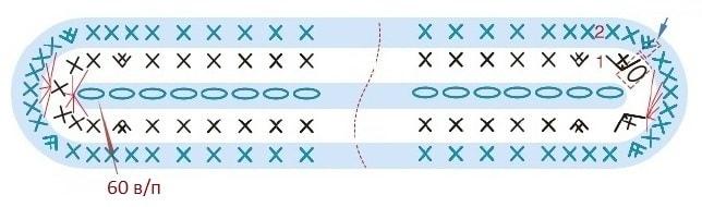Стильная сумочка крючком из веревки (6)
