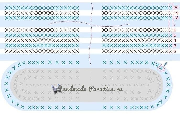 Стильная сумочка крючком из веревки (7)