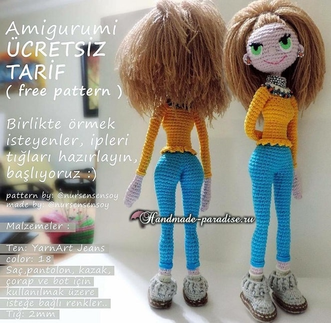 Амигуруми. Куколка Модница крючком (2)