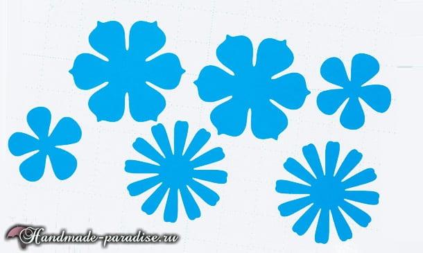 Разноцветный венок из бумажных цветов (4)
