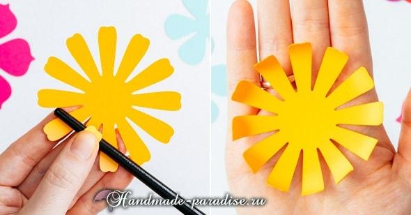 Разноцветный венок из бумажных цветов (6)
